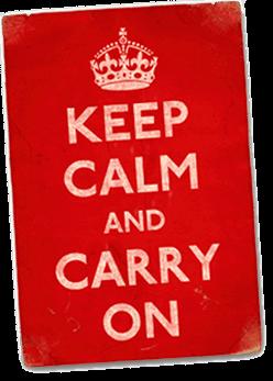O significado e a tradução de Keep Calm and Carry On