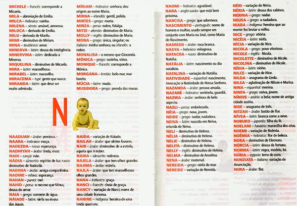 Nomes femininos que iniciam com N